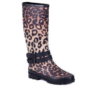 Women Tall Rain Boots, RB-1900, Leopard